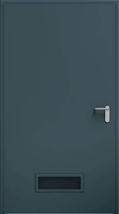 Dvere ECO, vetracia mrieížka 425x125 mm | RAL 7016