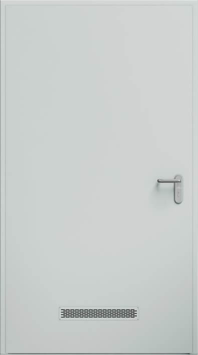 Dvere ECO BASIC, vetracia mriežka 480x80 mm | RAL 7035