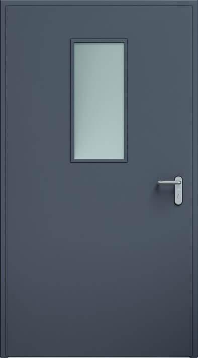 Dvere ECO, zasklenie 300x700 mm | Antracit