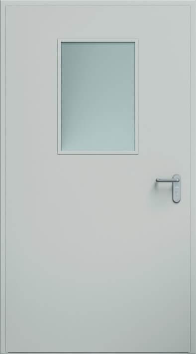 Dvere ECO, zasklenie 450x660 mm | RAL 7035