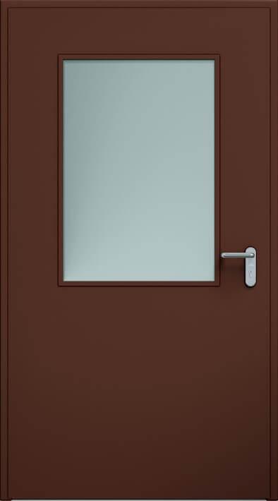 Dvere ECO, zasklenie 650x950 mm | RAL 8017