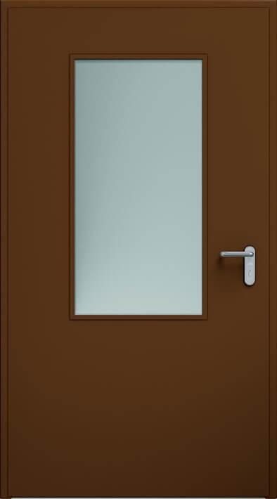 Dvere ECO, zasklenie 550x1100 mm | RAL 8014