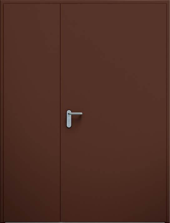 Dvoukrídle dvere ECO nesymetrické | RAL 8017