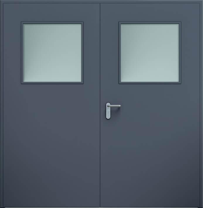 Dvoukrídle dvere ECO, zasklenie | Antracit