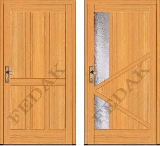 Vchodové dvere drevené